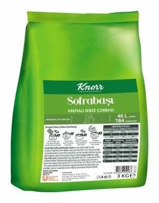 Knorr Sofrabaşı Kremalı Sebze Çorbası 3 kg -