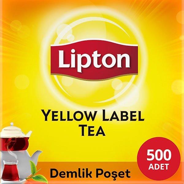 Lipton Yellow Label Demlik Poşet Çay 500'lü -