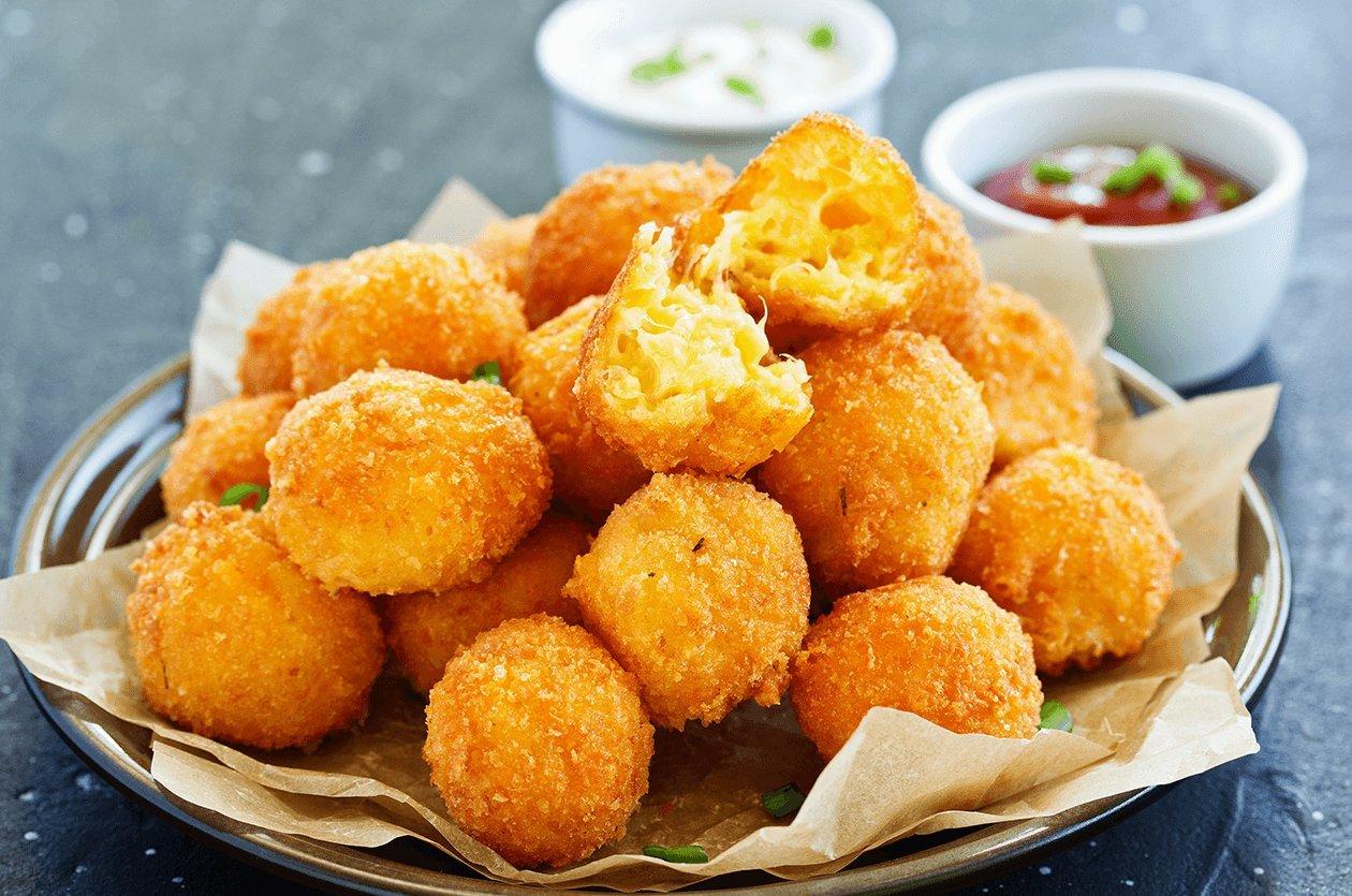 Peynirli Patates Lokmaları